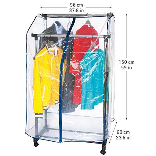 ArtMoon Anti Duster | 699331 | Abdeckung Kleiderständer, Kleiderhaube Reißverschluß | PVC, Transparent | 150x96x60CM