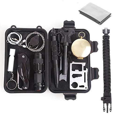 Unigear Kit De Supervivencia 13 En 1 Equipo de Emergencia Multifunción SOS...