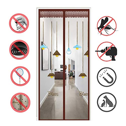 Magnetic Fly Screen Door, Anti-mosquito Curtain, Super Quiet Stripes Encryption, Keep Bug Out Let Fresh Air In for Balcony Sliding Living Room Children's Room/A / 120 * 210CM