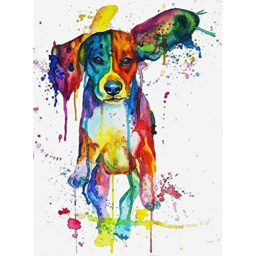 DIY 5D Diamond Painting Kits for Adults Full Drill,Diamond Painting Animal for Home Wall Decor Gift Beagle Colors Dog 11.8x15.7 in by witfox