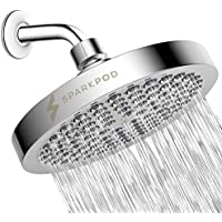 SparkPod High Pressure Rain Luxury Modern Chrome Look Shower Head