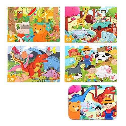 Puzzles Spielzeug Frühkindliche Bildung Frühe Intelligenz Gehirn 24 Kinder 3 Jungen EIN bis Zwei Jahre alt Spielzeug Tiere Ozean Brainteaser (Color : Animal)