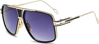 SHEEN KELLY Oversized Lunettes de soleil de conduite pour hommes lunettes Designer métal pilote Lunettes de soleil grand bloc