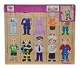 Eichhorn- Puzzle encajables de Madera Profesiones, 30 Piezas 100005408 Juguete, Multicolor (Simba , color/modelo surtido