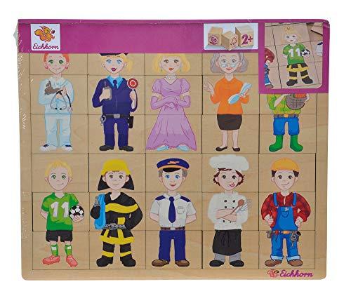 Eichhorn 100005408 - Einlegepuzzle, Mix und Match, Puzzle mit 30 Steckteilen, 26x22cm, FSC 100% Zertifiziertes Lindensperrholz