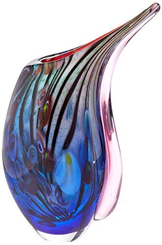 Accent Plus Dreamscape Art Glass Vase 5.37x2.75x10.37