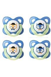 Tommee TIPPEE CHUPETE DIVERTIDO ESTILO 6-18m Robot Azul//Azul 1 2 3 6 12 paquetes