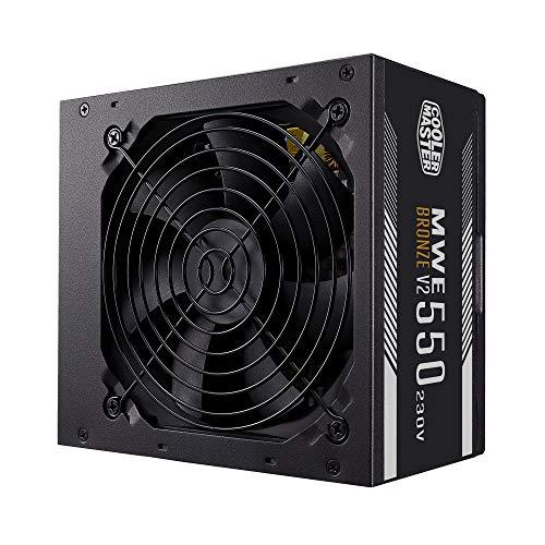 Cooler Master MWE 550 Bronze-v2 230V, fuente de alimentación para PC 550W 80+ Bronze, ventilador silencioso 120 HDB, circuito de CC a CC + LLC