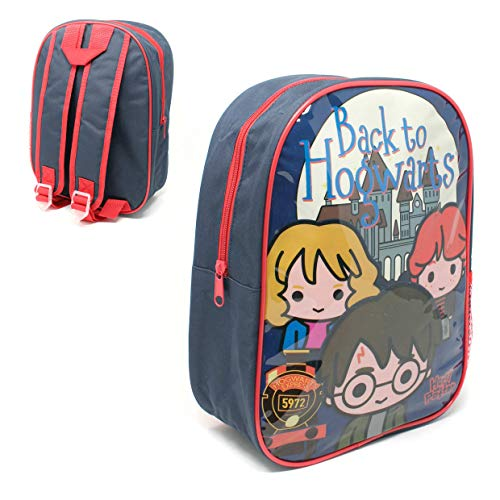 Official Licensed Kids Boys & Girls School Backpack with Side Mesh Pocket (Harry Potter)