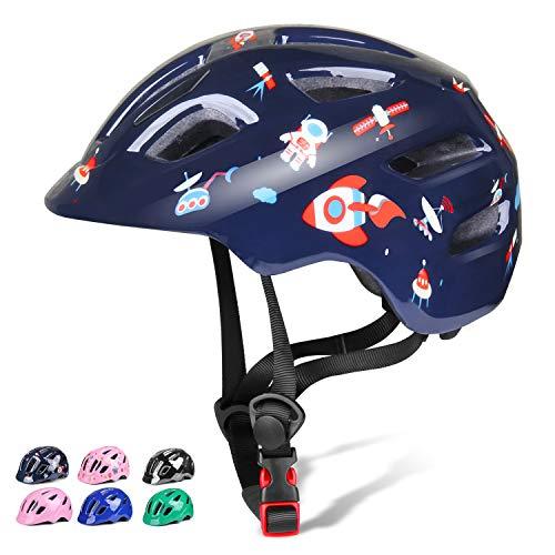 KORIMEFA Kinderhelm Kinderfahrradhelm CPSC-zertifizierter Verstellbarer Multisporthelm für Kinder 2-8 Jahren Jungen Mädchen Sicherheit Radfahren Fahrrad Skateboard Helm