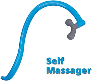 CARELAX Self Massage Tool - Original Trigger Point Therapy for Back and Neck, Lower Back Massager, Myofascial Release Tool & Deep Tissue Muscle Massage Stick, Shoulder,Leg,Feet - Blue