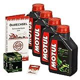 Motul 10W-40 Öl + HiFlo Ölfilter für Honda XL 1000 V Varadero, 99-02, SD01 SD02 - Ölwechselset inkl. Motoröl, Filter, Dichtring