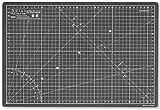 Elan Tappetino da Taglio A3 Nero e Grigio, Tappetino Taglio 44 x 30 cm, Piano da Taglio, Tappetino Autorigenerante 5 Strati pvc, Cutting Mat Artigianale, Base di Taglio per Taglierine