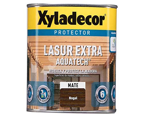 XYLADECOR LASUR EXTRA AQUATECH MATE NOGAL 2,5 Lts.