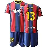 BASTB Neto # 13,2020/21 Boys Football Jersey Set -Youth Sportswear Soccer Jersey #13 red-16