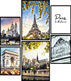 Calias® Premium Poster Set Paris | Bilder Set für