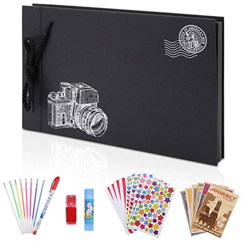 OUME DIY Album Photo Scrapbooking Livre Photo Mémoire Album Scrapbook Adventure Book 80 Pages avec DIY Accessoires (Caméra)