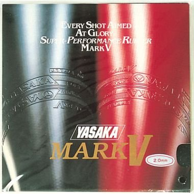 Yasaka Mark V Natural and Synthetic Rubbers Table Tennis Rubber (Red)