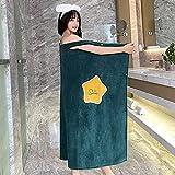 N\C Toallas de baño para Mujer Four Seasons Albornoces de Microfibra multifuncionales para Llevar Toallas Suaves para...