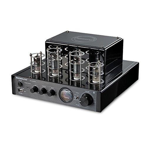 Nobsound MS-10D MKII Hybird Tube Verstärker mit Bluetooth/USB/Kopfhörer für HiFi (Schwarz)