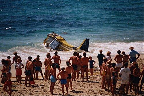 505056 Fatale Licht Vliegtuig Crash Off Strand Op La Jolla CA A4 Photo Poster Print 10x8