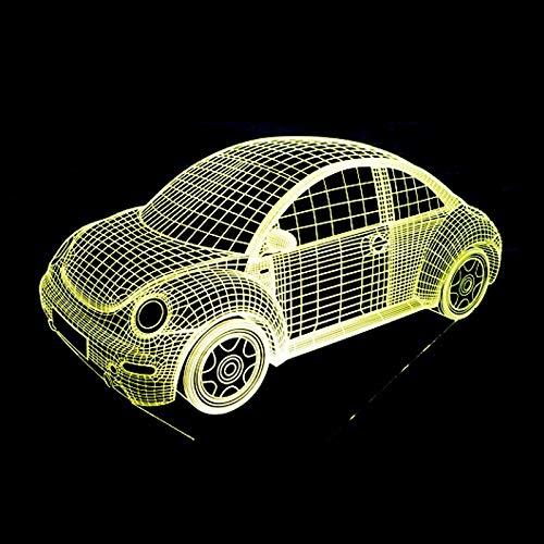 Jiushixw 3D-acryl-nachtlampje met afstandsbediening, kleurverandering, tafellamp, biljartlamp, optisch, schattig, vervanging voor tafellamp, lantaarn, trommel