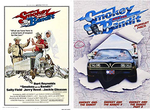 Lack of Respect for the Law Collection Smokey & The Bandit part: 1/2/3 Pursuit Pack + Original Fabric Movie Poster Exclusive Feature DVD 3 Comedy Favorites Set