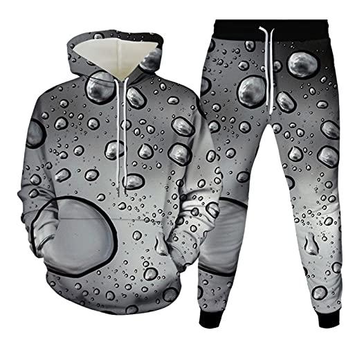Pantalones De Jogging para Hombre Sudadera De Manga Larga Casual 2 Piezas Conjunto De Jersey Y Pantalón De Hip Hop Sudadera con Capucha Sudadera Personalizada con Estampado 3D Realista