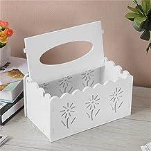 SMEJS Tissue Dozen Multifunctionele Tissue Papieren Doos Decoratieve Servet Houder Opslag Container Organizador (Color : W...