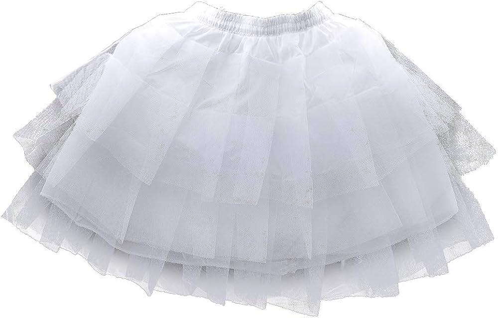 LULUSILK Girl's Hoopless Petticoat Crinoline with 3 Layers, Type 2