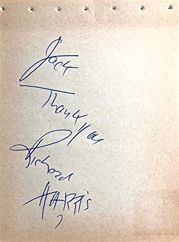 RICHARD HARRIS Autographed Hand SIGNED 1950s ALBUM PAGE GLADIATOR ALL ABOUT EVE