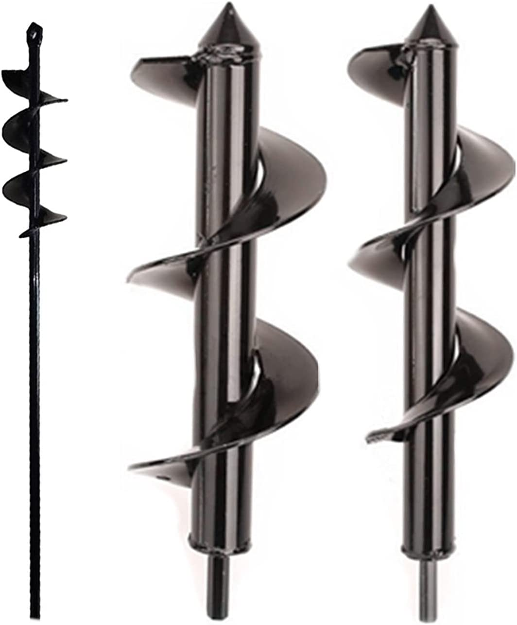 NEW before selling ☆ Planting Auger Spiral Hole Long Beach Mall Drill Bit Garden Bulb Soil Yard Earth