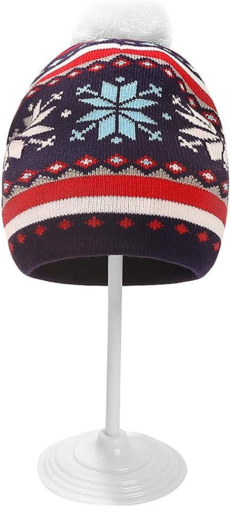 SH-RuiDu Kids Toddler Boys Girls Winter Hat Christmas Warm Knitted Pompom Beanie Hat for 1-5 Years Children