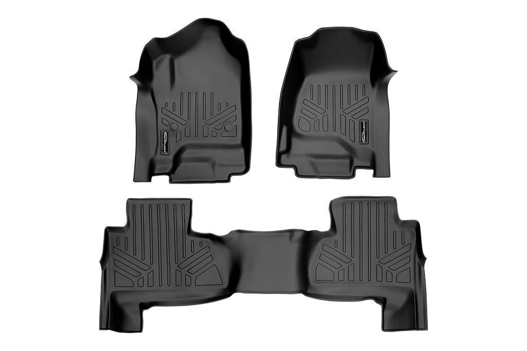 with 2nd Row Bench Seat SMARTLINER Custom Floor Mats 2nd Row Liner Black for 2015-2019 Chevrolet Suburban//GMC Yukon XL