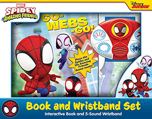 Marvel Spider-man - Spidey and His Amazing Friends Go-Webs-Go! Interactive Book and 5-Sound Wristband PI Kids