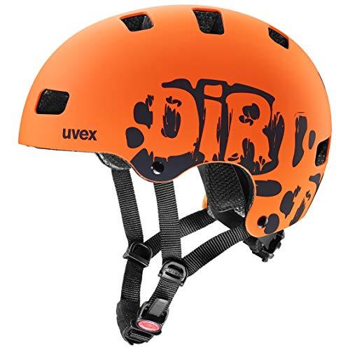 Uvex Unisex Jugend, Kid 3 cc Fahrradhelm, Dirtbike Orange Mat 51-55cm