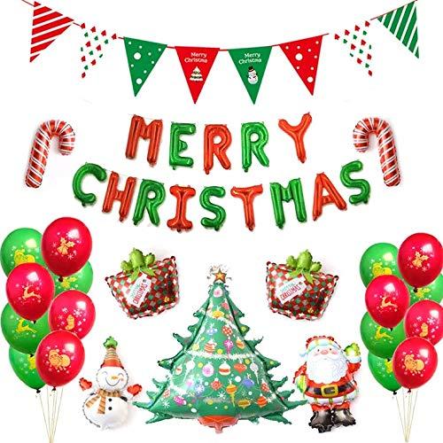 Thematys kerstballonnen - luchtballonset met slinger perfect voor Kerstmis en kerstfeest - de perfecte kerstdecoratie