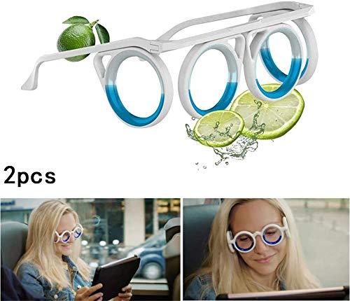 ZJXAM Anti-Motion-Sickness-Brille Für Kinder Erwachsene, Motion-Sickness-Brille Für Kinder, Flüssige Linsengläser Auf Augenhöhe Für Boote, Ultraleichte, Faltbare, Tragbare Adsorptionszitrone (2pcs)