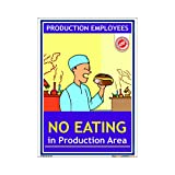 buysafetyposters.com - No Eating GMP Poster In English PVC Sticker A3