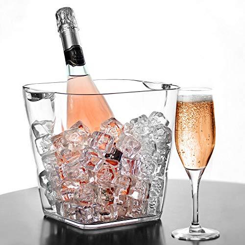 Acryl-Weinkühler–Getränke-/Champagner-Kühler aus Kunststoff für Party, Feierlichkeiten
