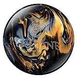 Ebonite Cyclone Bowling Ball, Black/Gold/Silver, 10
