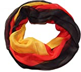 Am Laufsteg Schlauchschal Fanschal/Fan-Schal Fußball Deutschland-Farben Halstuch, Rundschal, Viskose, schwarz-rot-gelb