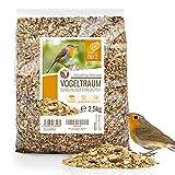 wildtier herz I Alimentación para Pájaros - sin Cáscara - Consistencia Fina (2,5kg) I Comida de Aves para Alimentos - Alimento para Aves