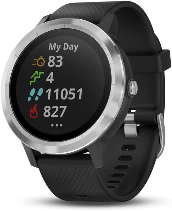 Garmin Vivoactive 3 GPS Smartwatch with Built-in Sports Apps - Black/Silver (Renewed)