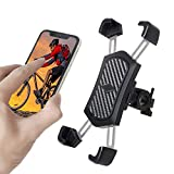 Bike Phone Mount, Anti Shake and Stable 360° Rotation Bicycle Accessories Motorcycle Phone Holder Motorbike Handlebars Adjustable Fits for iPhone Samsung Android GPS Other Devices