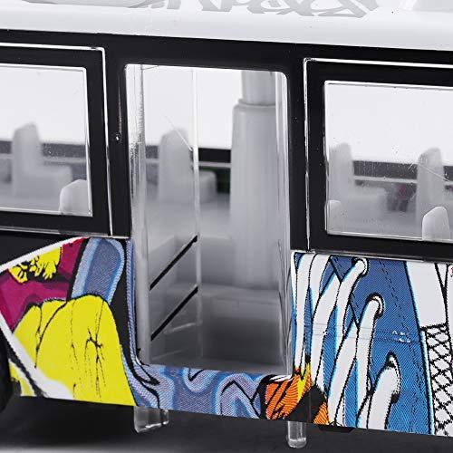 Oure Autobús de Juguete para niños, Coche de Juguete para autobús, Coche de Juguete para niños con Retroceso de aleación de Colores Brillantes y duraderos, simulación para Regalo para niños