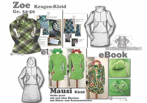 Zoe&Mausi, Nähanleitung mit Schnittmuster für Kapuzen & Kragen-Kleid in 3 Längen mit Daumenstulpen [Download]