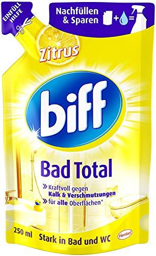 Biff Bad Total Zitrus Badreiniger (für alle Oberflächen, Nachfüllpack) 6er Pack (6 x 250 ml)