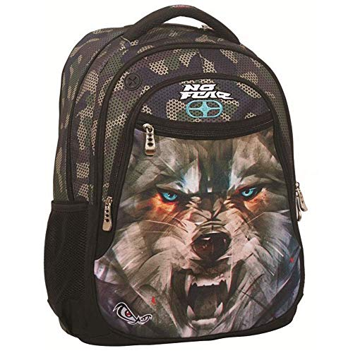 Multi Backpack No Fear Army Wolf Rucksack 347-51031