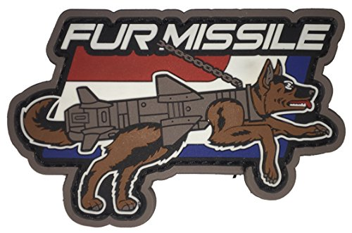 Mil-Spec Monkey Fur Missile PVC Morale Patch (Full Color)